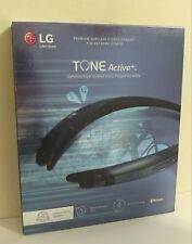 LG Tone Active+ Stereo Bluetooth Headset - Water & Sweat Resistant - Blue