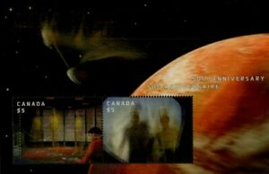 CANADA MINT SOUVENIR SHEET - SCOTT NO. 2922 -  Star Trek Collectable Holograms