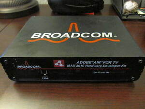 Adobe AIR for TV with the MAX 2010 Hardware Developer Kit