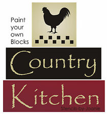 STENCIL Country Kitchen Farm Rooster Chicken Primitive Check Border Barn Signs