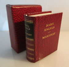 Mini libro: Marx Engels Manifiesto del Partido Comunista con dedicatoria!!! bu0169