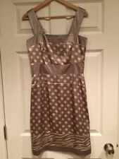 BCBG Max Azria Taupe & Cream Polka Dot Dress, Size Medium, NWT!