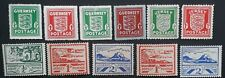 RARE 1941- Guernsey & Jersey (German Occ) lot of 11 stamps Mint