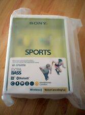 Sony Sports WI-SP600N Wireless Extra Bass Noise Cancelling Headphones - YELLOW