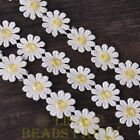 NEW 1 Yard 0.95'' Width Embroidered Lace Trim Applique DIY Crafts Light Yellow