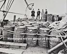 Old Antique Vintage Prohibition Captured Rum Runner Bootlegger Boat Barrel Photo