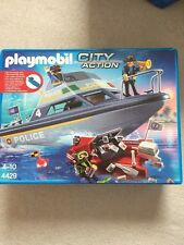 Nouveau Playmobil-City Action Set 4429-police bateau Playset-New in Box