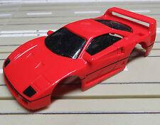 Für Slotcar Racing Modellbahn ---  Ferrari F 40 Karosserie für Tyco Motor