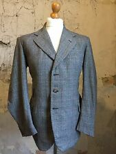 Vintage three 3 piece Prince of Wales 1930's  bespoke suit size 42 44