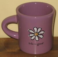 Life is Good Coffee Mug Do What You Want Daisy Cup Flowers Floral Purple