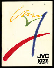 1986 Jvc Jazz Festival Program~Iconic Design~Ella Fitzgerald Bb King Miles Davis