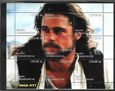 TURKMENISTAN - UNLISTED (NOTE AFTER #78) NH MINISHEET - BRAD PITT