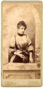 Big Cabinet Theatre Opera ? Annita Savio in theatrical costume 1890c F.P. Uzzo
