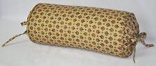Neck Roll Pillow made w Ralph Lauren Northern Cape Foulard Fabric trim cording