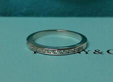 Tiffany Co. Wedding Band Ring Diamond  Platinum Bridal Anniversary Jewelry