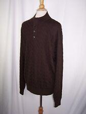 Peter Millar Brown 1/4 Button Sweater Merino Wool Men's XL NWT
