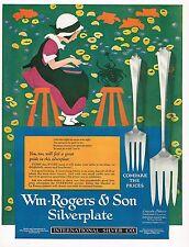 1920's BIG Vintage International Silver Co. Maginel Wright Barney Art Print Ad b