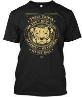 My Pitbull Family - Three Things You Don't Mess With Hanes Tagless Tee T-Shirt