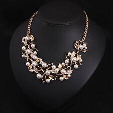 Women Fashion Jewelry Pendant Crystal Choker Chunky Statement Chain Necklace