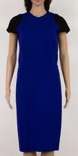 VICTORIA BECKHAM RUNWAY ICONIC COLOR BLOCK ROYAL BLUE/BLACK SHEATH DRESS US 10