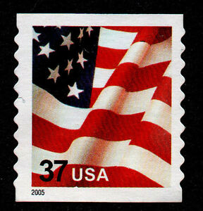 UNITED STATES, SCOTT # 3633B, MINT NO GUM UNCANCELLED 2005 DATE VARIETY 37¢ FLAG