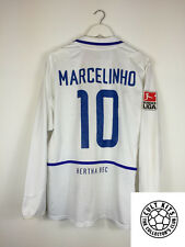 Hertha Berlin MARCELINHO #10 02/03 L/S Away Football Shirt (L) Soccer Jersey