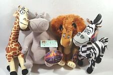 Madagascar 3 Dreamworks Complete set of 4 MELMAN MARTY ALEX GLORIA Plush dolls