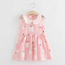 Kids Toddler Baby Girl Summer Party Princess Dresses Sleeveless Casual Sundress