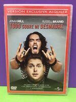 TODO SOBRE MI DESMADRE- JONAH HILL,RUSSELL BRAND- DVD- USADO GARANTIZADO