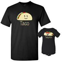Taco & Taquito - Adult T Shirt & Infant Bodysuit Bundle