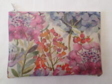 HANDMADE OILCLOTH HANDBAG MAKE UP BAG / PURSE  - VOYAGE HYDRANGEA FABRIC