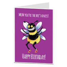 Happy Birthday Card For Mum Cute Quirky Perfect For Mum's 40th 50th 60th 70th