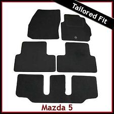 Mazda 5 Mk2 7-Seater 2005-2010 Fully Tailored Fitted Carpet Car Mats BLACk