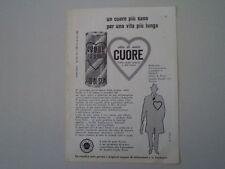 advertising Pubblicità 1961 OLIO CUORE