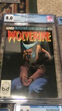 WOLVERINE LIMITED SERIES #3 CGC 8 WHITE PAGES // FRANK MILLER COVER ART 1982