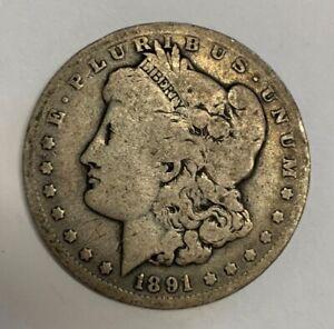 1891-O Morgan Dollar Top 100 Vam Variety VAM 1A Clashed E Very Good Condition