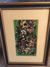 Colorful Abstract Gouache By Listed Artist Louis Donato