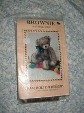 "Pam Holton Designs Brownie 7"" Basic Bear Making Pattern Kit Mohair New Uncut"