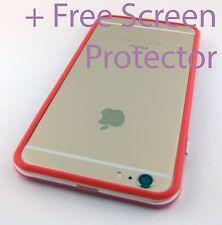 RED CLEAR HARD TPU GEL HYBRID BUMPER PHONE CASE COVER APPLE IPHONE 6S PLUS