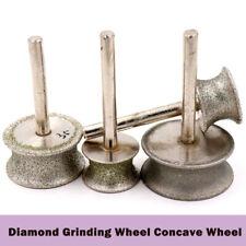 New listing Diamond Grinding Concave Wheel 20mm-50mm Shank 6mm Jade carving Tools Circular
