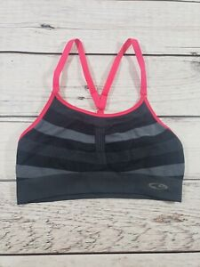 WOMEN'S CHAMPION SPORTS BRA / HOT PINK AND GRAY / SIZE MED P4