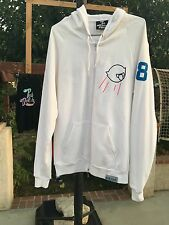 Pink Dolphin White Rare Zip Up Hoodie Los Angeles Dodgers Inspired Medium