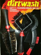 2 × Pack DIRTWASH CLEANING, TOTAL : 6 BRUSHES, Bike, Moto, Car, Home PROMOTIONAL