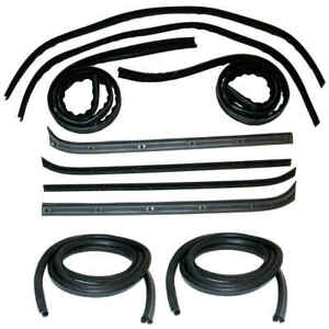 Window Channel & Felt Sweep Belt & Door Seal Kit for 73-79 Ford Pickup Truck 10p