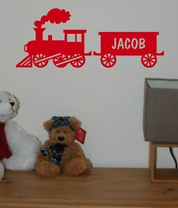 Train & Carriage Personalised Name Vinyl Sticker/Decal Wall/Door/Room Any Colour