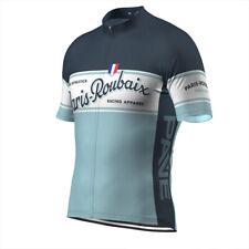 Retro Cycling Jersey PAVE Paris Roubaix Road MTB Bicycle TEAM Short Sleeve Shirt