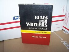 Rules for Writers by Diana T. Hacker (1988, Paperback)