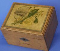Victorian Mauchline Ware Jewellery / Trinket box, key missing 14x11x9cm *[19033]
