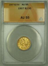 1907 Liberty Gold Quarter Eagle $2.50 Coin ANACS AU-55 (Better Coin) RJS