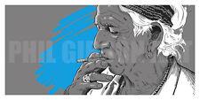 "Original ""Keef"" Art Print Keith Richards Rolling Stones Concert Poster Jagger"